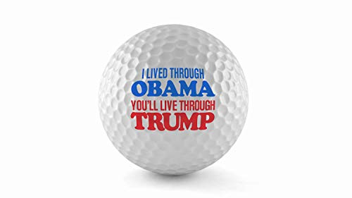 The Best - Donald Trump Wilson Ultra Golf Balls, (3 Pack) - United States of America (I Lived Through Obama You'll Live Through Trump) ()