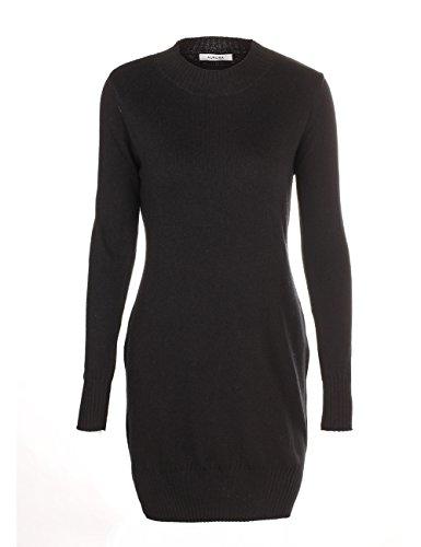 Buy belted black sweater dress - 2