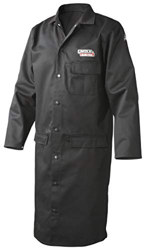 Lincoln Electric Welding Lab Coat   Premium Flame Resistant (FR) Cotton   45'' Length   Black   Large   K3112-L by Lincoln Electric (Image #4)