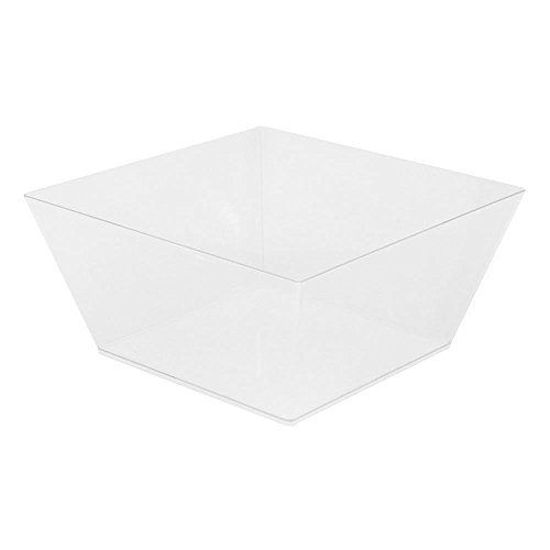 (Medium Modern Bowl - Square Clear Bowl - Perfect for Catered Events, Weddings, Parties, Banquets - 6.7