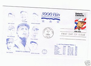 Roberto Clemente cachet 1994 first day issue envelope 3000 Hits ()