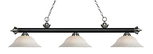 Billiard Light Shade in White Mottle Finish by Z-Lite