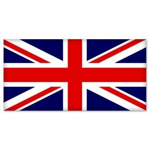 Great Britain British flag car bumper sticker 5