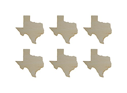 Texas State Shape Unfinished Wood Cut Outs 3