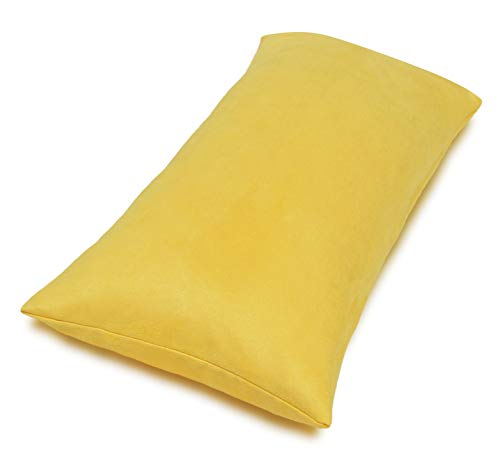 (Aiking Home Collection Creative Luxury Faux Suede Body Pillow Cover with Hidden Zipper 20 by 54, Yellow)