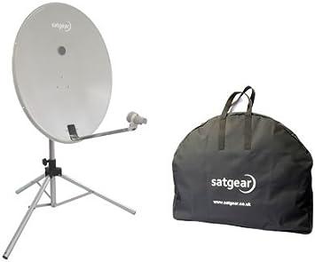 Satgear - Kit de antena parabólica portátil (78 cm), color ...