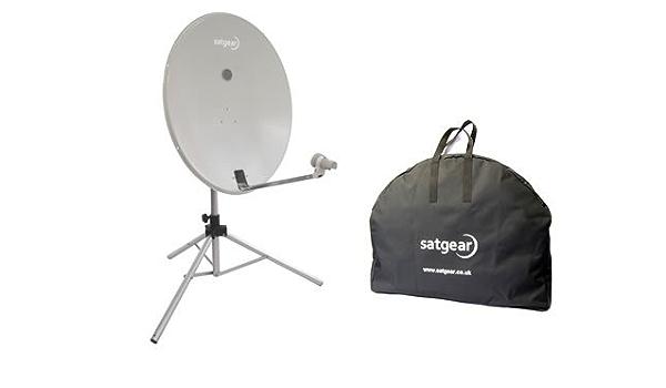 Satgear - Kit de antena parabólica portátil (78 cm), color blanco ...