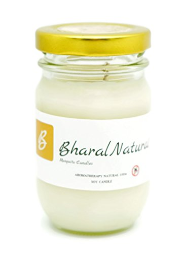 Bharal Natural Candle with Essential Oils Drives Away Insects Naturally with Soy Wax,8% Concentrated Citronella,Lavender,Eucalyptus,ButterFly Pea,Lemon.Pleasant Aroma, No Harmful - Zion T Glasses