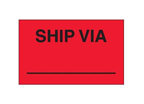5.75 Width Labels RetailSource DL3541x1 3 x 5 -Ship Via, RetailSource Ltd 5.75 Length Pack of 500 Pack of 500 Fluorescent Red 3 Height 5.75 Length 5.75 Width 3 Height