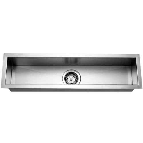 - Houzer CTB-3285 Contempo Trough Series Undermount Stainless Steel Bar/Prep Sink