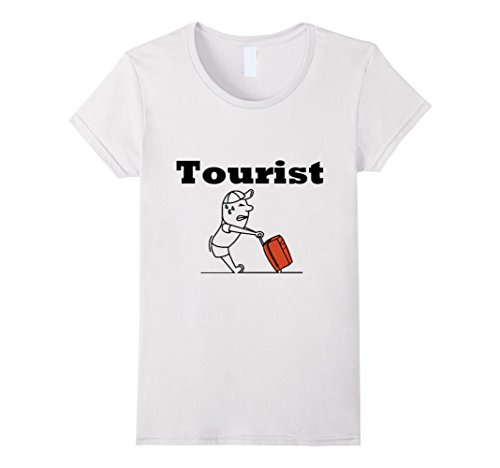 Womens Tourist Shirt For Men, Women, Teens, Child ,Kids, Children Medium White