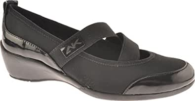 Anne Klein Women's By The Way,Black/Black Fabric,US 11.5 N