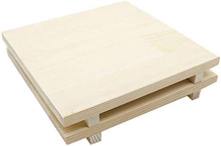 HEALLILY 彫刻ツール陶器粘土キッチンツールホームオフィスオーガナイザー(24X24cm)を成形するための1ピースフラットボードウッド未完成木製パネル