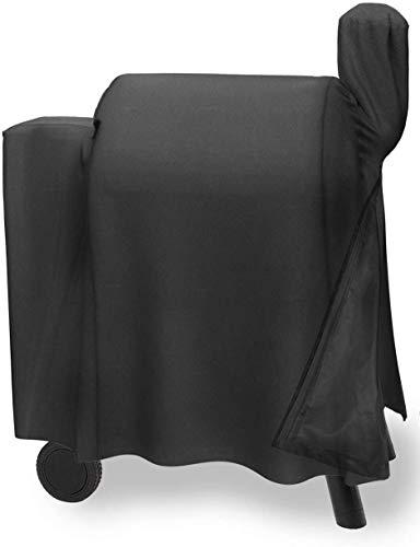 KXT Patio BBQ Cover Grill Cover with Side Shelves Cover for Most Grill Brands Weber Char-Broil Nexgrill Holland Brinkmann Jenn Air and Kenmore Black (with Side Shelves, Black)