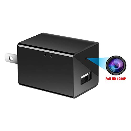 Spy camera USB Phone charger by WEMLB -1080p HD hidden camera, WIFI Wireless wall plug USB Charger Motion Detection, AC Adapter, Remote App Control Nanny camera Home, Kids, Baby, Pet monitoring cam