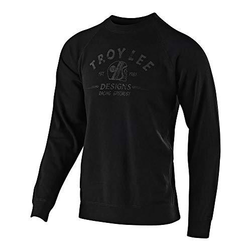 Troy Lee Designs Men's Racing Specialist Crew Pullover Hoodie (Medium, Black) ()