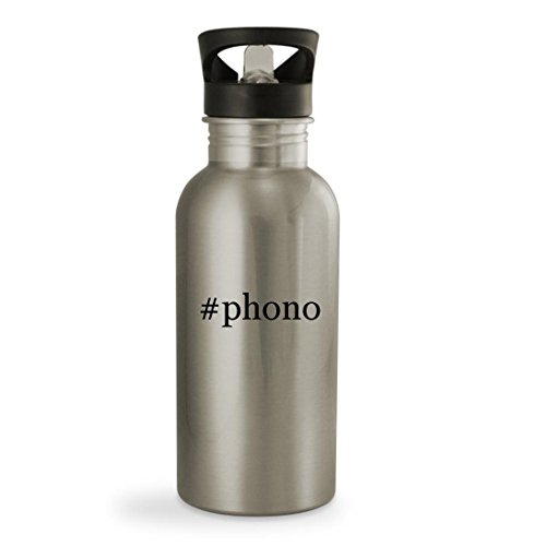 Phono   20Oz Hashtag Sturdy Stainless Steel Water Bottle  Silver
