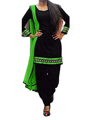 Wisdom Black Cotton Designer Suit Women Dress Material