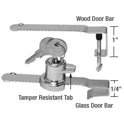 Showcase Ratchet Locks Wood and Glass Doors - Keyed Alike