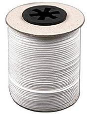BIG-SAM – Cordon de traction (blanc) pour stores – 5, 10, 25, 50 ou 100 m – Ø dans différentes tailles – Haute résistance, résistant aux intempéries et aux produits chimiques, Ø 3,5 mm, Weiß, 25 m