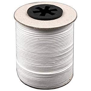 BIG-SAM – Cordon de traction (blanc) pour stores – 5, 10, 25, 50 ou 100 m – Ø dans différentes tailles – Haute résistance, résistant aux intempéries et aux produits chimiques, Ø 0,5 mm, Wei&