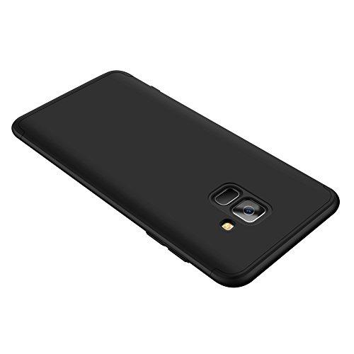 Samsung Galaxy A8 2018 Caso, Vandot de 360 Grados Alrededor de Todo el Cuerpo Completo de Protección Ultra Thin Slim Fit Cubierta de la Caja de Mate PC Absorción de impactos Shockproof para Samsung Ga QBHD PC-1