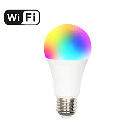 Hub Screw - LED WiFi Smart Light Bulb 7W, Compatible with Alexa, Google Assistant and IFTTT, RGBW Dimmable Remote Control by Smartphone iOS & Android,E26 Edison Screw Base, No Hub Required, Pack of 1