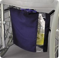 Posey 8275 Urine Bag Cover with Window, Navy Blue, Canvas