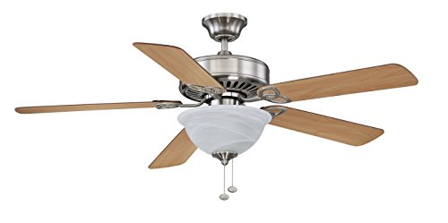Mount Flush Light Mahogany - Litex E-BDB52BNK5BC1S Boudreaux Collection 52-Inch Ceiling Fan with Five Reversible Light Maple/Mahogany Blades and Single Light Kit with Alabaster Glass