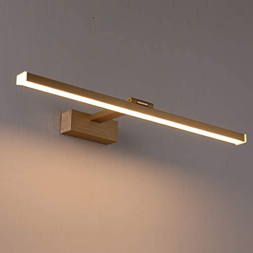 GYC Spiegel Frontleuchte LED-Spiegel-Kabinett-Licht-Bad Wasserdicht Nebel Rost Einfache Nordic Aluminium Verstellbare Kopf-Lampen Alle Aluminium Gold GYC (Color : Warm light)