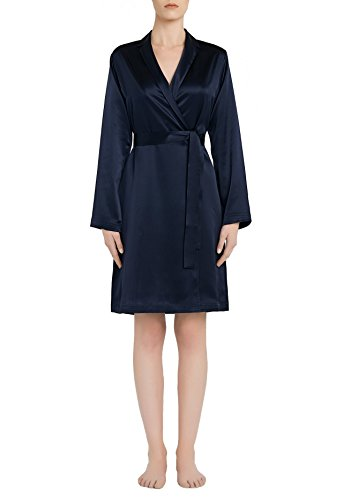 La Perla Silk Short Robe (Midnight, Small) by La Perla