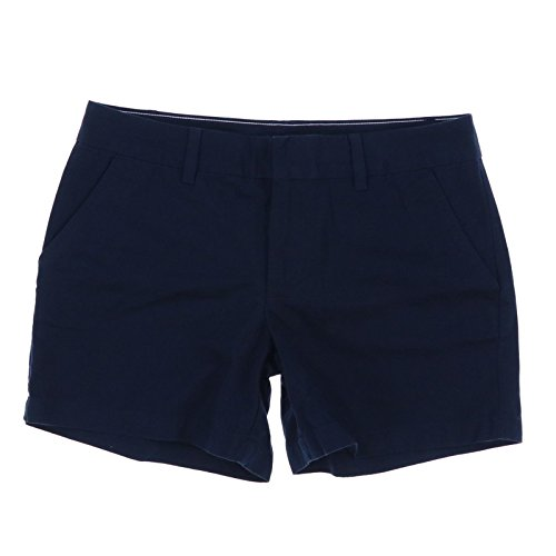 Tommy Hilfiger Womens Twill Chino Shorts, Navy, Size 8