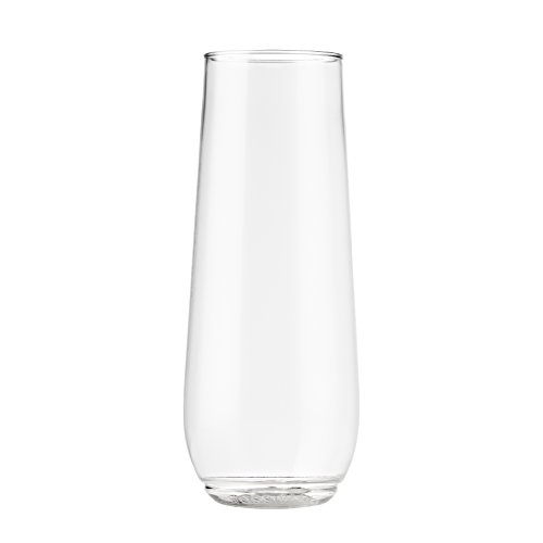 TOSSWARE 9oz Flute - recyclable champagne plastic cup - SET OF 12 - stemless, shatterproof and BPA-free flute glasses by TOSSWARE (Image #2)