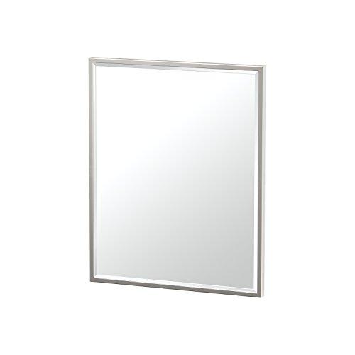 Gatco 1833 Flush Mount Framed Rectangle Mirror, 25-inch, Satin -