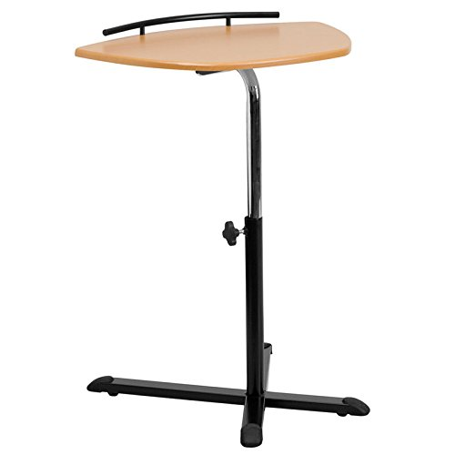 (Ship from USA) Height Adjustable Natural Laptop Computer Desk [NAN-LT-04-GG] /ITEM#H3NG UE-EW23D24693 by Unique's Shop