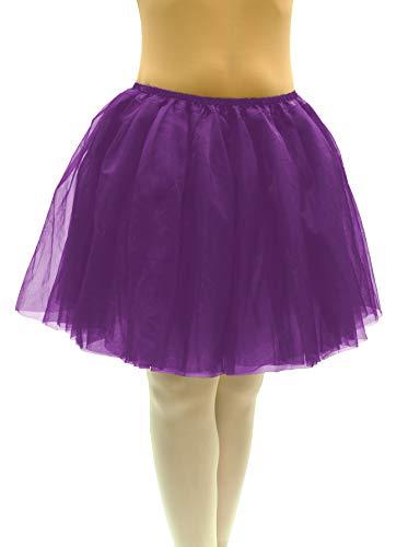 Dancina Dark Purple Mauve Tulle Skirt Plus Size