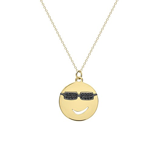 Alison Lou femme  14carats (585/1000)  Or jaune|#Gold Rond   Noir Diamant