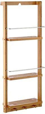 Generic rack, rail, ES e ganci, bambù, bambù, K, con griglia per bagno da parete, con Ted scaffale da bagno e ed il bagno