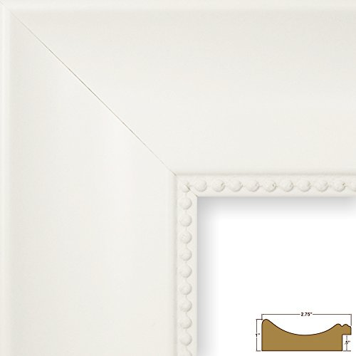 Craig Frames Lenox Ornate, Traditional White Picture Frame,