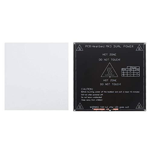 D DOLITY Impresora 3D Heatbed MK3 12V / 24V Placa De Calentamiento De Placa Caliente De PCB + Algodón De Aislamiento