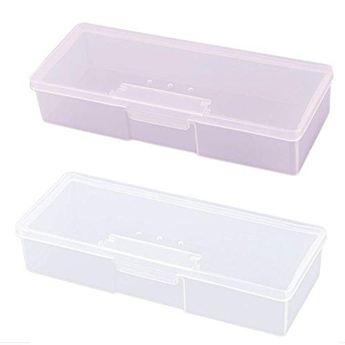 GaoCold New Transparent Empty Nail Storage Box Manicure Tools Organizer Case Holder (Translucent (Box Nail)