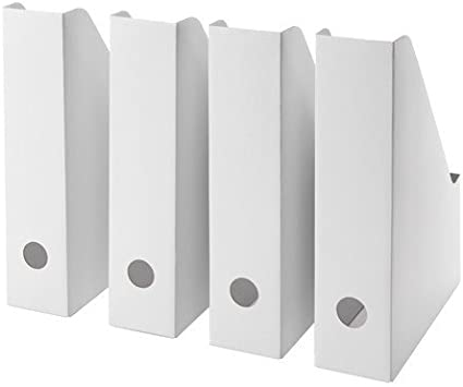 Ikea Fluns IKE-003.241.32- Revistero en color blanco, 4 unidades