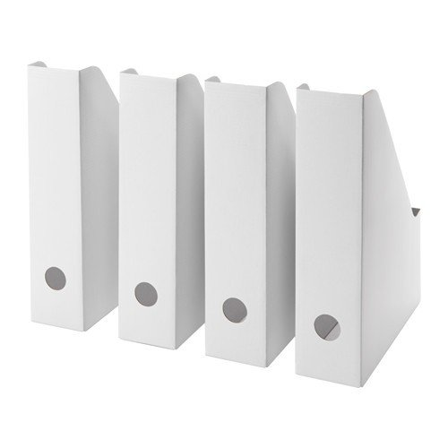 Ikea fluns Portariviste in Bianco; 4pezzi