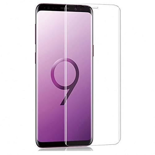 Galaxy S9 ガラスフィルム, IRROT S9 フィルム 専用 強化ガラスフィルム 99% 透過率 【 3D全面保護ガラス2枚】「ケースに干渉せず&良いタッチ感度」 硬度9H 超薄0.33mm 指紋防止 Galaxy S9 保護フィルム「品質保証」【5.8 インチ-透明】