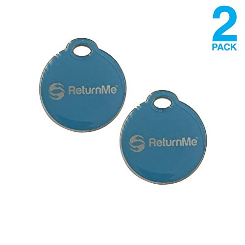 Smart Luggage ID Tags with Lifetime Global Recovery Service (Blue - 2 Pack)