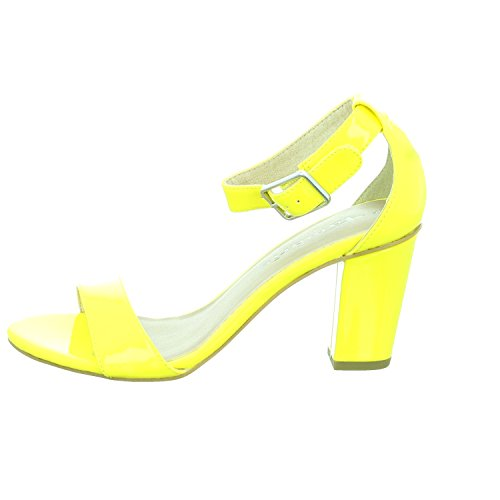 Tamaris 28376, Sandalias con Cuña para Mujer Amarillo (Yellow 600)