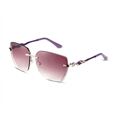 Mens Vintage Casual UV400 Metal Frame Sunglasses Polarized Classic Reflective Revo Color Lens Rimless