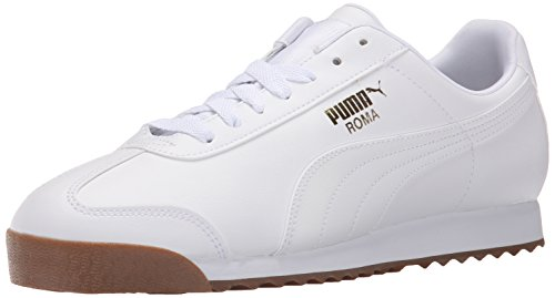 PUMA Men's Roma Basic Fashion Sneaker, White/White/Gum - 6.5 D(M) US