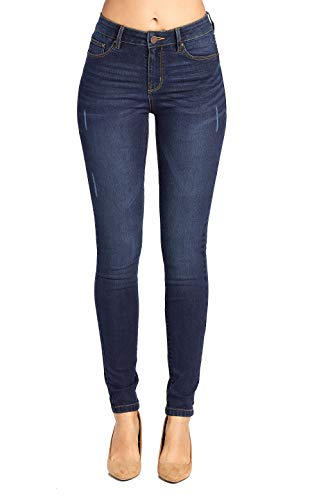 Blue Age Women's Butt-Lifting Distressed Skinny Jeans (JP1064A_DK_13)