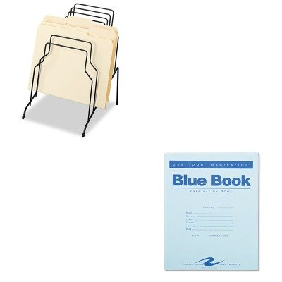 KITFEL72614ROA77513 - Value Kit - Roaring Spring Exam Blue Book (ROA77513) and Fellowes Step File (FEL72614)